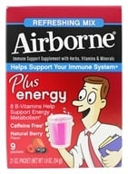 Airborne - Plus Energy Refreshing Mix Natural Berry Flavor - 9 x 6g Packets