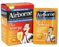 Airborne - Plus Energy Refreshing Mix Natural Citrus Flavor - 9 x 7g Packets