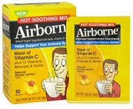 Airborne - Immune Support Hot Soothing Mix Natural Honey Lemon Flavor - 10 x 4.6g Packets (647865303459)