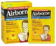 Airborne - Immune Support Hot Soothing Mix Natural Honey Lemon Flavor - 10 x 4.6g Packets