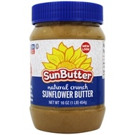 Sunbutter - Sunflower Seed Spread Natural Crunch - 16 oz. by Sunbutter