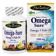 Paradise Herbs - Med Vita Omega-Sure Omega-3 Fish Oil 1000 mg. - 30 Vegetarian Softgels
