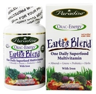 Paradise Herbs - Earth's Blend One Daily Superfood Multivitamin with Iron - 60 Vegetarian Capsules