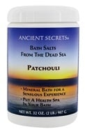 Ancient Secrets - Aromatherapy Dead Sea Mineral Bath Patchouli - 2 lbs. (079565005096)