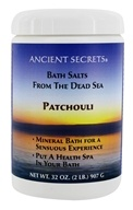 Ancient Secrets - Aromatherapy Dead Sea Mineral Bath Patchouli - 2 lbs. by Ancient Secrets
