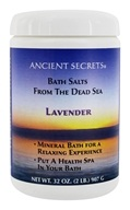 Image of Ancient Secrets - Aromatherapy Dead Sea Mineral Bath Lavender - 2 lbs.