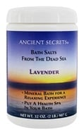 Ancient Secrets - Aromatherapy Dead Sea Mineral Bath Lavender - 2 lbs. by Ancient Secrets
