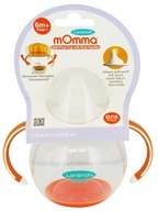 Image of Lansinoh - mOmma Spill-Proof Cup with Dual Handles Orange - 8.4 oz.
