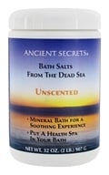 Ancient Secrets - Aromatherapy Dead Sea Mineral Bath Unscented - 2 lbs., from category: Personal Care