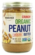 Image of Woodstock Farms - Organic Peanut Butter Crunchy Unsalted - 16 oz.