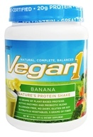Nutrition 53 - Vegan1 Protein Shake Banana - 1.5 lbs., from category: Health Foods