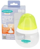 Image of Lansinoh - mOmma Feeding Bottle with NaturalWave Slow Flow Nipple - 5 oz.