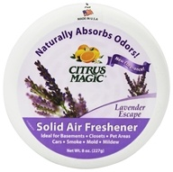 Citrus Magic - Solid Air Freshener Odor Absorbing Lavender Escape - 8 oz. by Citrus Magic