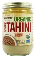 Woodstock Farms - Organic Sesame Tahini Unsalted - 16 oz. by Woodstock Farms