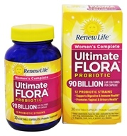 Image of ReNew Life - Ultimate Flora Women's Complete 90 Billion - 30 Vegetarian Capsules