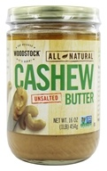 Woodstock Farms - All-Natural Cashew Butter Unsalted - 16 oz. (026938736439)