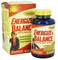 ReNew Life - Energize & Balance - 60 Vegetarian Capsules CLEARANCED PRICED (631257156075)