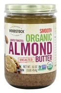 Woodstock Farms - Organic Raw Almond Butter Smooth Unsalted - 16 oz. (026938737603)