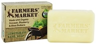 Farmers' Market - Organic Bar Soap Lemongrass Basil - 5.5 oz.