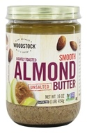 Woodstock Farms - All-Natural Raw Almond Butter Smooth Unsalted - 16 oz. (026938737610)