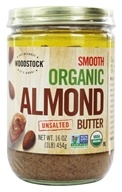 Woodstock Farms - Organic Almond Butter Smooth Unsalted - 16 oz. by Woodstock Farms