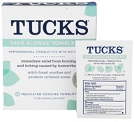 Tucks - Take Along Towelettes with Witch Hazel - 12 Count