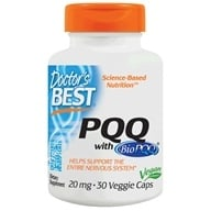 Doctor's Best - Best PQQ Featuring BioPQQ 20 mg. - 30 Vegetarian Capsules by Doctor's Best