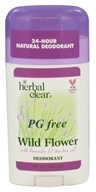 Herbal Clear - PG Free Deodorant Stick Wild Flower With Lavender & Tea Tree Oil - 3.4 oz.