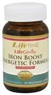 LifeTime Vitamins - LifeGevity Iron Boost Energetic Formula - 30 Vegetarian Capsules CLEARANCED PRICED (053232468209)