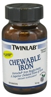 Twinlab - Chewable Iron Blackberry Flavor 18 mg. - 100 Wafers, from category: Vitamins & Minerals