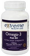 Extreme Health USA - Omega-3 Fish Oil Ultra High Strength 1250 mg. - 60 Softgels
