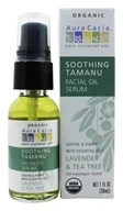 Aura Cacia - Facial Oil Serum Soothing Tamanu Lavender & Tea Tree - 1 oz. (051381997571)