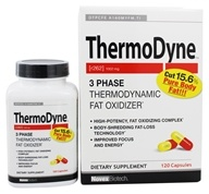 Novex Biotech - ThermoDyne 3 Phase Thermodynamic Fat Oxidizer - 120 Capsules