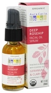 Image of Aura Cacia - Facial Oil Serum Deep Rosehip Geranium & Clary Sage - 1 oz.