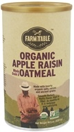 Farm to Table - Organic Whole Grain & Oatmeal Apple Raisin - 18.5 oz., from category: Health Foods