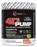 Image Sports - 4D Pump Pre-Workout Muscle Formula Red Lemonade 30 Servings - 11.64 oz.