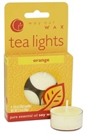 Way Out Wax - Tealights Orange - 4 Pack by Way Out Wax