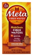 Metamucil - MultiGrain Fiber Wafers Cinnamon Spice - 12 x .77 oz. Single Serving Packets by Metamucil