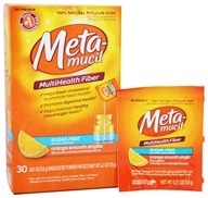 Metamucil - MultiHealth Fiber Singles Orange Smooth - 30 x .21 oz. Packets