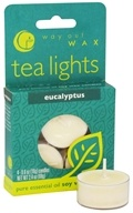 Way Out Wax - Tealights Eucalyptus - 4 Pack by Way Out Wax