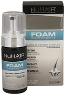 Nu Hair - Foam Rejuvenate & Style Natural Peptide Complex For Men & Women Fresh Scent - 3.4 oz.