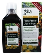 Gaia Herbs - PlantForce Liquid Iron - 8.5 oz. by Gaia Herbs