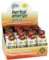 Gaia Herbs - Herbal Energy Plus Immune Support Shot - 2 oz. by Gaia Herbs