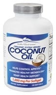 Healthy Natural Systems - Coconut Oil Organic Extra Virgin - 120 Softgels, from category: Diet & Weight Loss