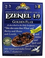Food For Life - Ezekiel 4:9 Sprouted Whole Grain Cereal Golden Flax - 16 oz., from category: Health Foods