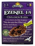 Food For Life - Ezekiel 4:9 Sprouted Whole Grain Cereal Cinnamon Raisin - 16 oz. by Food For Life