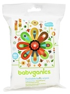 BabyGanics - Flushable Wipes Thick N' Kleen Fragrance Free - 60 Wipe(s) by BabyGanics