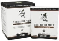 22 Days Nutrition - Plant Protein Power Chocolate - 10 x 1.34 oz. Packets (853409003130)