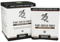 22 Days Nutrition - Plant Protein Power Chocolate - 10 x 1.34 oz. Packets by 22 Days Nutrition