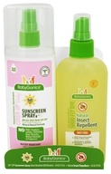 Image of BabyGanics - Cover-Up Baby Sunscreen Spray SPF 50 - 6 oz. + Natural Insect Repellent - 6 oz. Combo Pack
